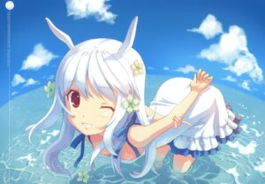 Rating: Questionable Score: 75 Tags: animal_ears bunny_ears dj_max dj_max_technika dress h2so4 island_of_horizon suee summer_dress User: Aurelia