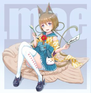 Rating: Safe Score: 11 Tags: animal_ears heels japanese_clothes rony tail thighhighs User: Mr_GT