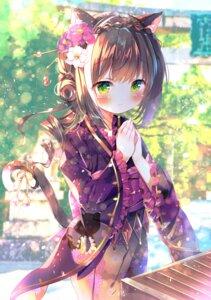 Rating: Questionable Score: 34 Tags: animal_ears japanese_clothes kyaru_(princess_connect) princess_connect princess_connect!_re:dive rokomoko tail User: yanis