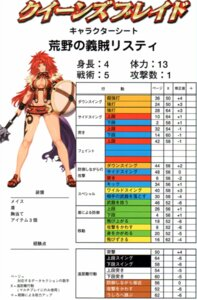 Rating: Safe Score: 3 Tags: eiwa queen's_blade risty User: YamatoBomber
