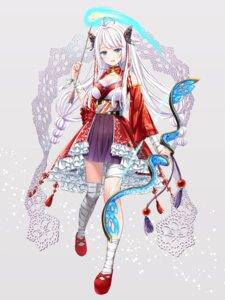 Rating: Safe Score: 23 Tags: akasaka_asa bandages cleavage houchi_shoujo japanese_clothes weapon User: Mr_GT