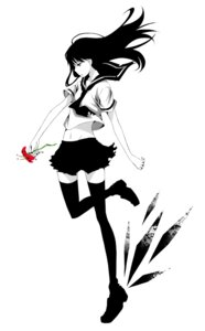 Rating: Safe Score: 21 Tags: monochrome rinjin seifuku thighhighs User: Radioactive