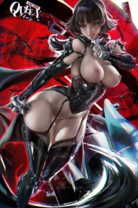 Rating: Questionable Score: 108 Tags: bottomless breasts niijima_makoto nipples no_bra persona_5 sakimichan stockings tagme thighhighs weapon User: BattlequeenYume