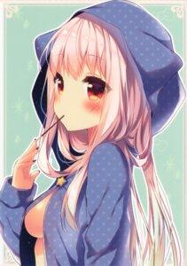 Rating: Questionable Score: 89 Tags: no_bra open_shirt riichu underboob User: shinkuu