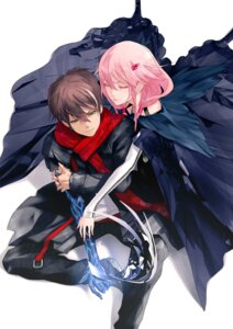 Rating: Safe Score: 55 Tags: guilty_crown ouma_shuu redjuice yuzuriha_inori User: Azraelson