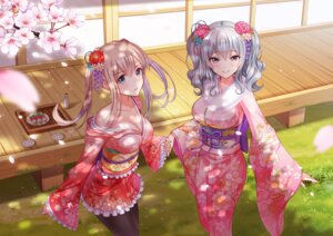Rating: Safe Score: 105 Tags: cleavage graf_zeppelin_(kancolle) kantai_collection kashima_(kancolle) kimono lolita_fashion ltt_challenger no_bra open_shirt pantyhose sake wa_lolita yukata User: Mr_GT