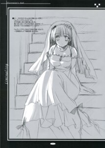 Rating: Safe Score: 6 Tags: dress ikegami_akane monochrome sketch wedding_dress User: syaoran-kun