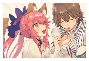 Rating: Safe Score: 29 Tags: animal_ears caster_(fate/extra) fate/extra fate/stay_night hino_hinako kishinami_hakuno male_protagonist_(fate/extra) User: nphuongsun93