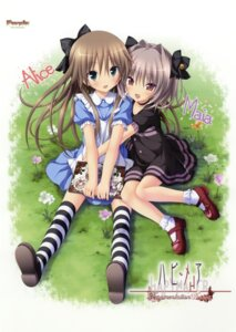 Rating: Safe Score: 71 Tags: dress hapymaher koku naitou_maia purple_software thighhighs toriumi_arisu User: 雪車町