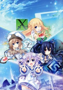 Rating: Questionable Score: 15 Tags: blanc choujigen_game_neptune cleavage neptune noire shinjigen_game_neptune_vii thighhighs tsunako vert User: Radioactive