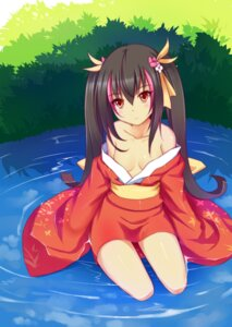 Rating: Questionable Score: 37 Tags: akanotsuki cleavage yukata User: Radioactive