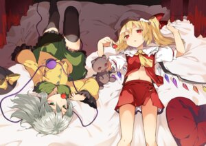 Rating: Safe Score: 31 Tags: flandre_scarlet hasebe_yuusaku komeiji_koishi thighhighs touhou wings User: Mr_GT