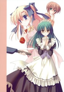 Rating: Safe Score: 12 Tags: canvas_2 housen_elis kikyou_kiri maid megane nanao_naru takeuchi_mami User: crim