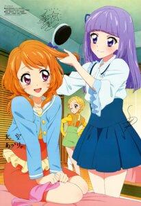 Rating: Safe Score: 21 Tags: aikatsu! autographed dress hikami_sumire oozora_akari shinjou_hinaki watanabe_satomi User: drop