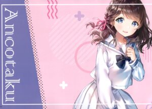 Rating: Safe Score: 21 Tags: ancotaku breast_hold kiohana_miro seifuku sentiment_color User: kiyoe