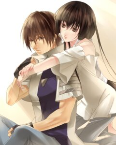 Rating: Safe Score: 18 Tags: fuuchouin_kazuki get_backers kakei_juubei papillon10 trap User: charunetra