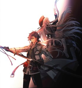 Rating: Questionable Score: 25 Tags: altina_orion eiyuu_densetsu eiyuu_densetsu:_sen_no_kiseki heels pantyhose rean_schwarzer sword tagme uniform User: Omega87
