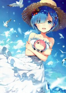 Rating: Safe Score: 181 Tags: dress lf ram_(re_zero) re_zero_kara_hajimeru_isekai_seikatsu rem_(re_zero) summer_dress User: yong