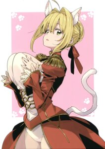 Rating: Questionable Score: 21 Tags: animal_ears breast_hold fate/grand_order imigimuru nekomimi saber_extra see_through tagme tail User: kiyoe