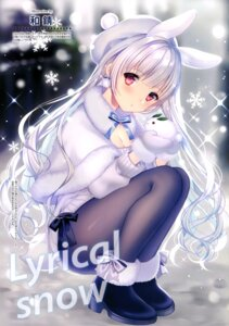 Rating: Questionable Score: 49 Tags: animal_ears bunny_ears cleavage heels pantyhose sweater tail wasabi_(artist) User: drop