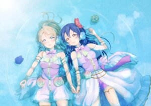 Rating: Safe Score: 24 Tags: ayase_eli dress lilylion26 love_live! see_through sonoda_umi wet wet_clothes User: charunetra