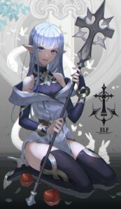 Rating: Safe Score: 23 Tags: amahara_subaru elf heels pointy_ears thighhighs weapon User: Mr_GT