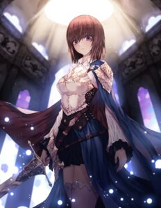 Rating: Safe Score: 32 Tags: armor sg009 sword thighhighs User: BattlequeenYume