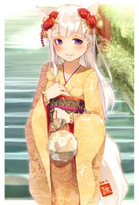 Rating: Safe Score: 41 Tags: animal_ears kimono kitsune meth_(emethmeth) tail User: Mr_GT