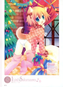 Rating: Questionable Score: 36 Tags: animal_ears inumimi loli pantsu sakurazawa_izumi tail thighhighs User: crim