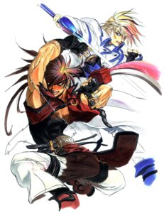 Rating: Safe Score: 5 Tags: guilty_gear ky_kiske male sol_badguy User: Radioactive