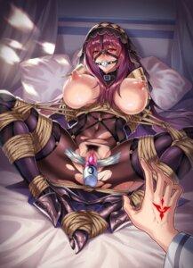Rating: Explicit Score: 45 Tags: armor bodysuit bondage breasts censored fate/grand_order heels nipples no_bra nopan pengnangehao pubic_hair pussy pussy_juice scathach_(fate/grand_order) tattoo torn_clothes vibrator User: mash