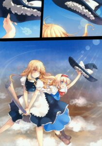 Rating: Safe Score: 9 Tags: alice_margatroid kirisame_marisa moe_shoujo_ryouiki tenshimuma touhou User: midzki