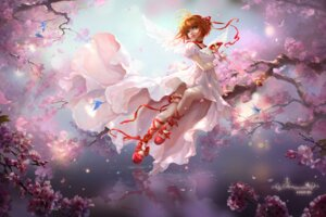 Rating: Safe Score: 34 Tags: card_captor_sakura dress garter kinomoto_sakura sunmomo wings User: gnarf1975