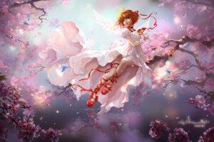 Rating: Safe Score: 35 Tags: card_captor_sakura dress garter kinomoto_sakura sunmomo wings User: gnarf1975