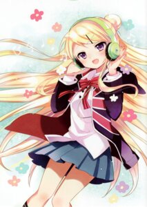 Rating: Safe Score: 89 Tags: hara_yui headphones kin'iro_mosaic kujou_karen seifuku User: fatetes