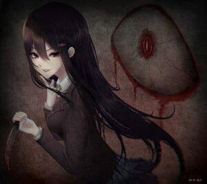 Rating: Safe Score: 25 Tags: aeus blood doki_doki_literature_club! seifuku weapon yuri_(doki_doki_literature_club!) User: charunetra