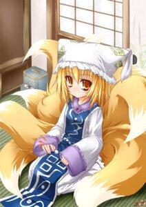 Rating: Safe Score: 11 Tags: kazami_karasu kitsune touhou yakumo_ran User: Radioactive