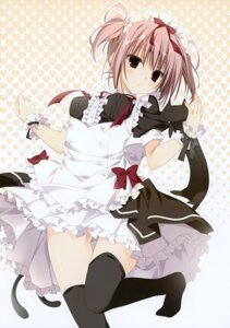 Rating: Questionable Score: 35 Tags: 13 inugami_kira maid mitsuki_(13) thighhighs User: Hatsukoi