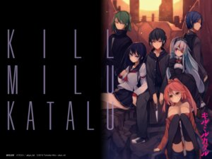 Rating: Questionable Score: 22 Tags: eyepatch kill_milu_katalu seifuku thighhighs ukyo_rst wallpaper User: sinonhecate