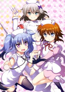 Rating: Questionable Score: 24 Tags: fujima_takuya mahou_shoujo_lyrical_nanoha mahou_shoujo_lyrical_nanoha_a's_the_gears_of_destiny mahou_shoujo_lyrical_nanoha_reflection material-d material-l material-s nurse thighhighs User: drop