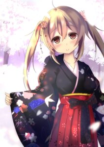 Rating: Safe Score: 52 Tags: kantai_collection kimono murasame_(kancolle) purunyara User: Mr_GT