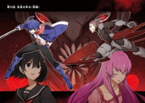 Rating: Safe Score: 16 Tags: akame_ga_kill! bodysuit horns kurome mein monster seifuku sword tashiro_tetsuya weapon User: kiyoe