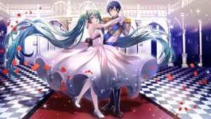 Rating: Safe Score: 31 Tags: abandon_ranka dress hatsune_miku heels kaito uniform vocaloid User: Mr_GT
