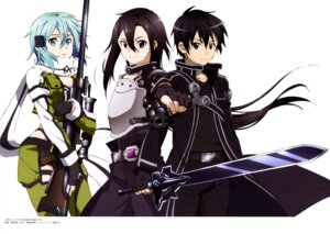 Rating: Safe Score: 25 Tags: armor cleavage gun gun_gale_online kawatsuma_tomomi kirito sinon sword sword_art_online User: drop