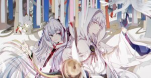 Rating: Questionable Score: 32 Tags: crossover hatsune_miku japanese_clothes kanose touken_ranbu tsurumaru_kuninaga vocaloid yuki_miku User: sym455