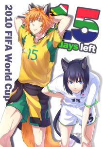 Rating: Safe Score: 7 Tags: 2010_fifa_world_cup animal_ears bliss nekomimi soccer tail User: Tensa