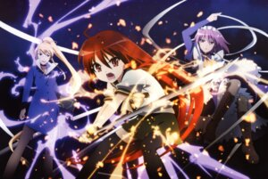 Rating: Safe Score: 13 Tags: margery_daw pantyhose seifuku shakugan_no_shana shana sword thighhighs wilhelmina_carmel User: Radioactive