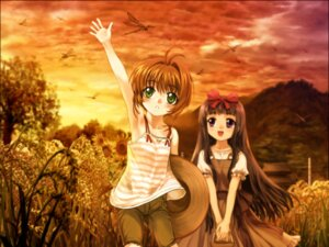 Rating: Safe Score: 11 Tags: card_captor_sakura daidouji_tomoyo kinomoto_sakura moonknives wallpaper User: blooregardo