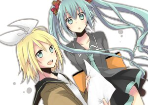 Rating: Safe Score: 8 Tags: hatsune_miku kagamine_rin souritu vocaloid User: Radioactive
