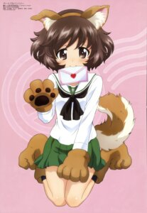 Rating: Safe Score: 48 Tags: akiyama_yukari animal_ears girls_und_panzer inumimi seifuku tail yamaguchi_asuka User: Jigsy